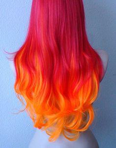 Kekewig コレクション 2014  カラー: 赤オレンジ/赤/オレンジ 髪のスタイル: 長い前髪縮毛 パート: 中央部は左右どちら側に別れたことができますサークル 胸の長さ 26以上の長さ。 キャップ サイズ: 21.5-23.5 に平均 22.5 を調整ことができます」 正味重量: 8.25