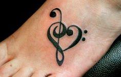cute music tattoos Cute Foot Tattoos Ideas