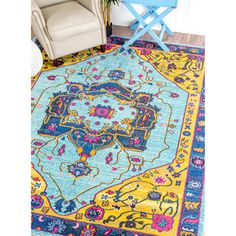 nuLOOM Traditional Vibrant Vines Ornamental Multi Rug (5'3 x 7'7) | Overstock.com Shopping - The Best Deals on 5x8 - 6x9 Rugs