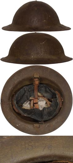 "The first ""modern"" steel helmets were introduced by the French army in early 1915 and were shortly followed by the British army later that year. The M15 helmet became known as the MK I or ""Brodie"" after its inventor John Leopold Brodie and by July 1916 over a million of them had been delivered. The design allowed for easy mass production using ""Hadfield's"" manganese steel and protected the wearer from shell fragments and air-burst shrapnel."