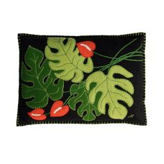 Luxury Tropical Cheese Plant Cushion | Jan Constantine