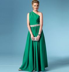 Butterick Pattern B5987      MISSES DRESS: Lined dress has bodice variations, side front seams on skirt and narrow hem. A: semi-fitted bodice, lydia