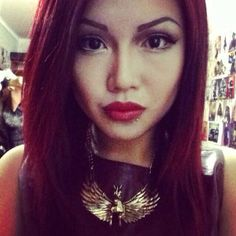 Red hair, red lips #anastaciacid
