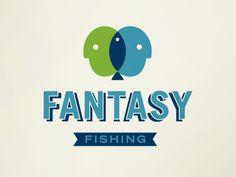 Fantasy Fishing. Awesome logo treatment.