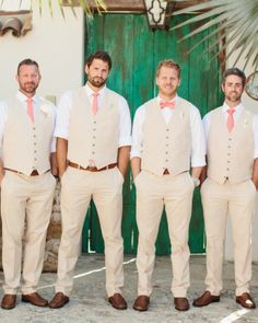 Steve's guys wore J.Crew vests and pants, with Daniel Cremieux neckwear.