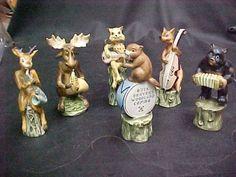 UNIQUE-BUCK-BEAVERS-WOODLAND-COMBO-BAND-1950S-JAPAN-MOOSE-BEAR-LEOPARD-FOX