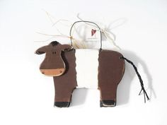 Belted Galloway Cow Wall decor by SuzanneLake on Etsy