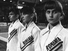 Nadia Comaneci on the far right.