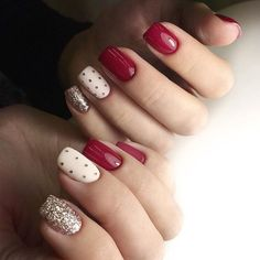Who doesn't like Polka Dots? Properly assuming that you simply love polka dot nail designs, right here's a bouquet of polka dot nails that may encourage you and allow you to get one. Xmas Nails, Holiday Nails, Red Nails, White Nails, Christmas Nails, Leopard Nails, Dot Nail Art, Polka Dot Nails, Polka Dots