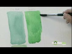 Watercolor Painting - How to Paint Greens