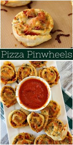 Recipe for Pizza Pinwheels inspired by 2 ingredient pizza dough. Pesto, pepperoni and cheese rolled up in pizza dough and baked. Appetizers For A Crowd, Yummy Appetizers, Appetizer Recipes, Dinner Recipes, Party Appetizers, Party Snacks, Appetizer Sandwiches, Snack Recipes, Vegetarian Sandwiches