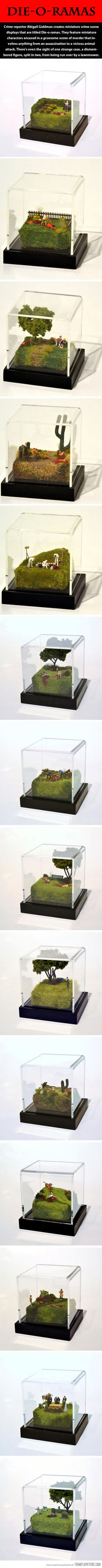 Miniature crime scenes…  OMG!! I need all of these, or at least make a few of my own!!!!!