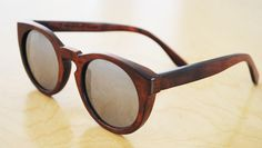wood framed glasses