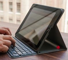 Logitech Solar Keyboard Folio For iPad / Built-in light-powered Bluetooth keyboard for iPad 2 and iPad (3rd generation). Powered by indoor and outdoor light. http://thegadgetflow.com/portfolio/logitech-solar-keyboard-folio-for-ipad-120/