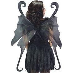 Wings Fairy Large Black - Costume Accessories - Click Image to Close Dark Fairy Costume, Fairy Wings Costume, Black Costume, Black Fairy Wings, Black Wings, Halloween Wings, Halloween Party Costumes, Costume Ideas, Halloween Ideas
