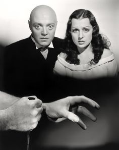 Peter Lorre and Frances Drake, MAD LOVE (1935).