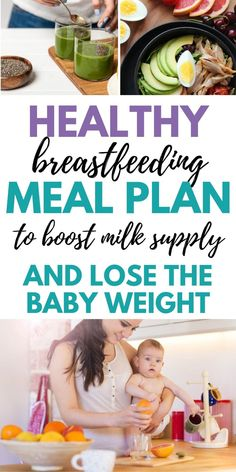 Breastfeeding Meal Plan for Healthy Mom + Baby Tired of worrying about what to eat while breastfeeding? This one week breastfeeding meal plan is so helpful. Great healthy breastfeeding diet plan for increasing milk supply and losing weight postpartum. Breastfeeding Diet Plan, Dieting While Breastfeeding, Breastfeeding And Pumping, Nursing Mom Diet, Losing Weight Postpartum, Postpartum Diet, Boost Milk Supply, Increase Milk Supply, Mama Baby