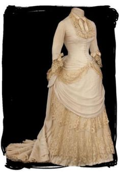 Mademoiselle Rose: The Gorgeous Antique Bustle Gown That Got Away...