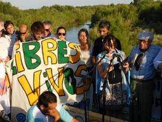 El gobernador encabezó reclamo por los ríos pampeanos