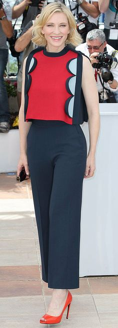 Cate Blanchett in Delpozo at the How to Train Your Dragon 2 photocall.