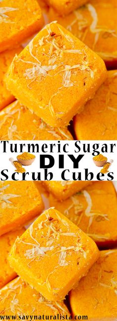 With this easy tutorial you can make your own turmeric sugar scrub cubes. This recipe uses all natural turmeric powder and pure essential oils for the perfect natural skin care DIY Turmeric Sugar Scrub Cubes Diy Skin Care, Skin Care Tips, Diy Peeling, Sugar Scrub Cubes, Skin Care Routine For 20s, Piel Natural, Luscious Hair, Home Remedies For Hair, Diet