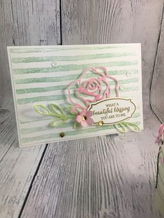 Stampin with Mel: Rose Wonder Ft Brushstrokes - What a Beautiful Ble...