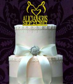 Doe And Doe Wedding cake topper-Lesbian Wedding Cake Topper-Same Sex Wedding-Lesbian Party-Funny Wedding Cake Topper-Rustic Wedding Decor by caketoppersshop667 on Etsy