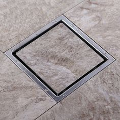 33.50$ Watch here - http://aligpd.shopchina.info/go.php?t=32366816029 - Tile Insert Square Floor Waste Grates Bathroom Shower Drain 110 x 110 MM,304 Stainless steel 33.50$ #buymethat