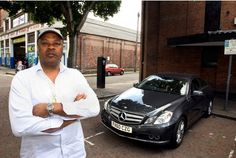 Appeal win:   Clifford Henry with his Mercedes in Collin Street.