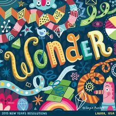 Linzie Hunter - ilustrações tipográficas inspiradas nas resoluções de ano novo.