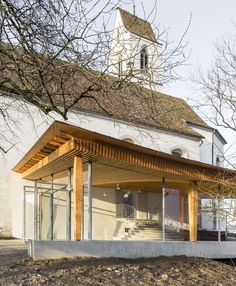 Addition to a historic church in Boswil / gian salis architektur