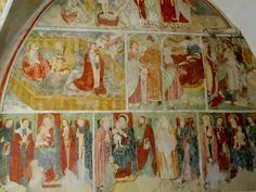 #Mendatica chiesa Di S. Margherita - affreschi del XVI sec. attribuibili a Pietro Guido da Ranzo