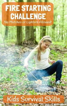 Get big kids unplugged, outside and enjoying nature with this fire starting challenge, no matches allowed! Your tweens and teens will love this awesome bushcraft activity. NO FIRE = NO COOKING = NO DINNER! Are your kids up for a survival skills challenge?