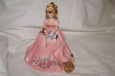 """Vintage Josef Originals 'A Mother's World' 'Mending a Doll' 7"""" Figurine HTF!!"""