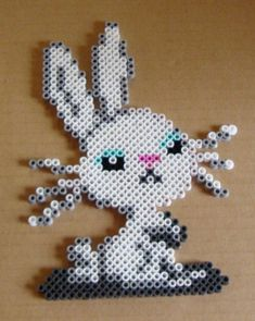 Angel Bunny perler beads by cardinalchang