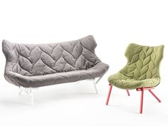 iSaloni 2013. Rediscovered typologies | Among the techniques more attentively reproposed, let's not forget capitonné. References oscillate between simple revisitation and unrestricted rereading, like Patricia Urquiola's 'Foliage' armchair for Kartell...