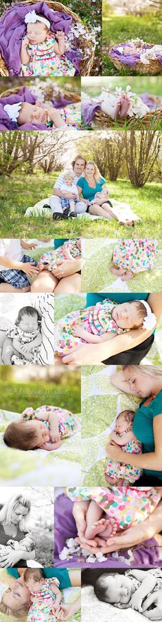 outdoor newborn lifestyle photography