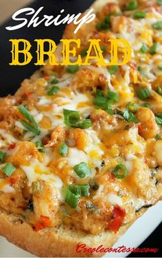 Talk about comfort food! This Stuffed Shrimp Bread by Creole Contessa will have you coming back for seconds, and thirds! Talk about comfort food! This Stuffed Shrimp Bread by Creole Contessa will have you coming back for seconds, and thirds! Creole Recipes, Cajun Recipes, Fish Recipes, Seafood Recipes, Appetizer Recipes, Great Recipes, Cooking Recipes, Favorite Recipes, Seafood Appetizers