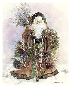 Santa's Bounty Art Poster Print by Peggy Abrams, 13x17