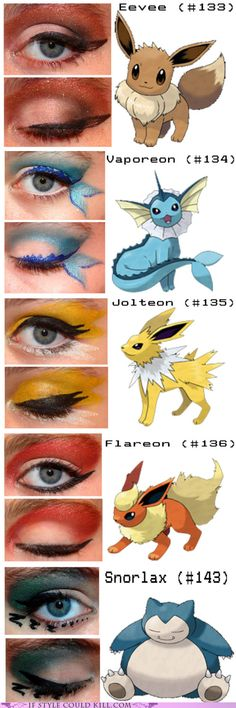 Hardcore! Pokemon inspired eye makeup. o_O