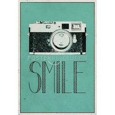 Smile Retro Camera Art Poster $3.80 #camera #smile #retro #poster #print