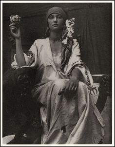 A photograph taken by Alphonse Mucha. c.1919    He often took photos then copied them in paintings