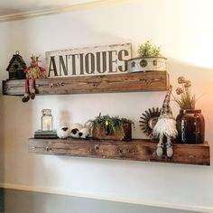 Floating shelves are a great way to display home decor, (we make that, too) family pictures and other odds and ends. - Made from hand select reclaimed wood, reused materials, or cull lumber. - Built b
