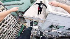 Смотреть: на крыше сорвиголов сделать страшные прыжки между зданиями в Гонконге