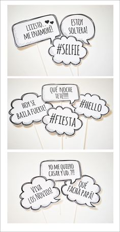 PHOTO PROPS #phrases #photoprops #party #photobooth #wedding #frases #casamiento                                                                                                                                                                                 Más