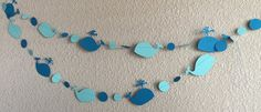 Baby Beluga paper garland Whale Party by CelebrationBee on Etsy
