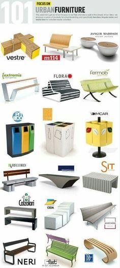 #Banca #Diseño #Urbano #moviliario #urbano #tipos