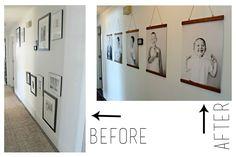 DIY Hanging Wood Frames.