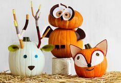   Pumpkin decorating: woodland animals  