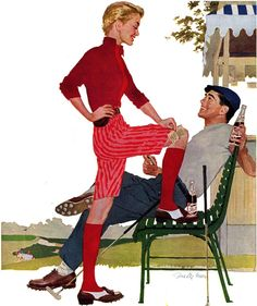 1950s Pepsi ad - Joe De Mers More Joe de Mers @ http://groups.google.com/group/Just-Pinup-Art & http://groups.yahoo.com/group/Just-Pinup-Art